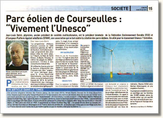 "Parc éolien de Courseulles : ""Vivement l'Unesco"""