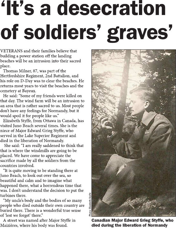 'It's a desecration of soldiers' graves'
