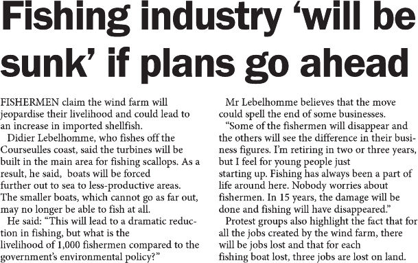 Fishing industry 'will be sunk' if plans go ahead