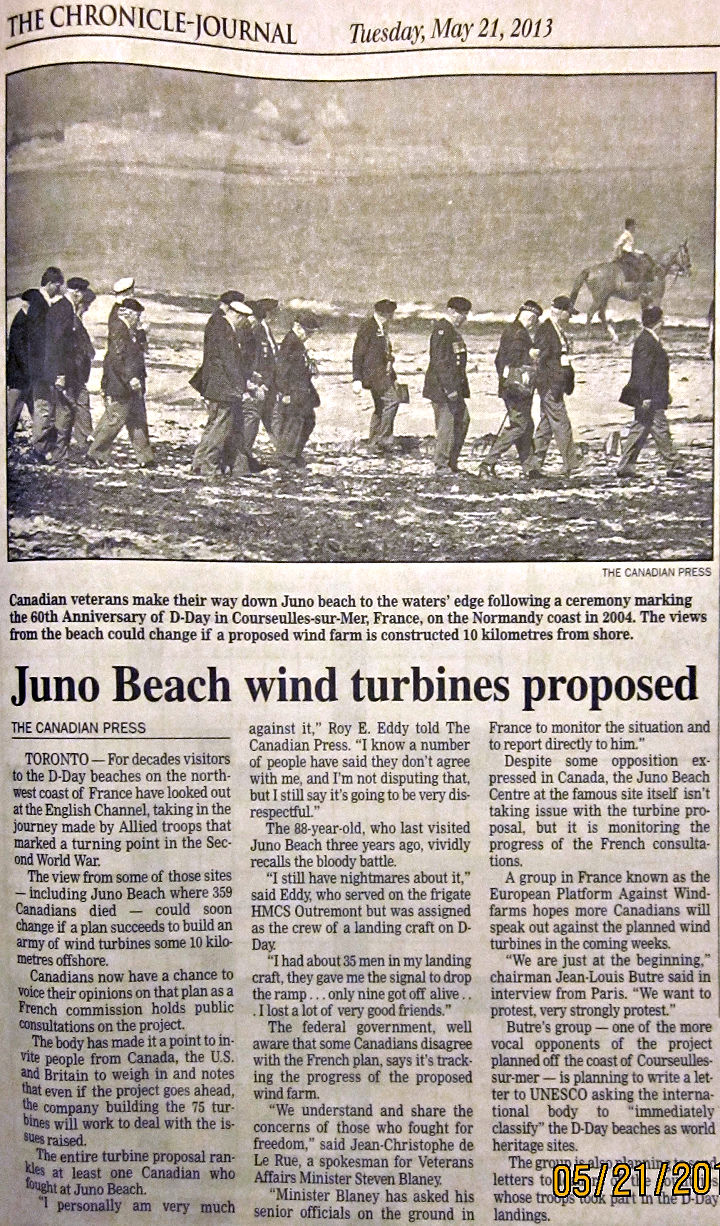 Juno Beach wind turbines proposed