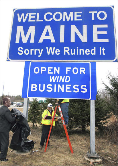WELCOME TO MAINE - Sorry We Ruined It - OPEN FOR WIND BUSINESS